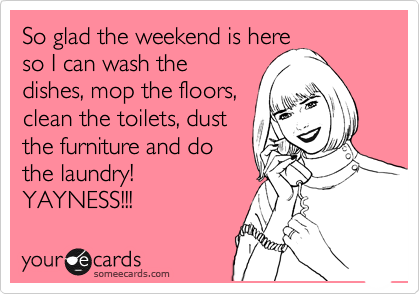 Musings on (Working) Motherhood: What if you could do less housework?